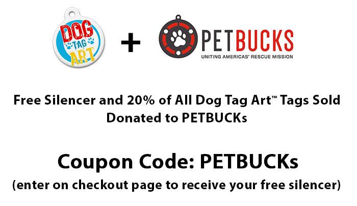 welcome petbucks members dog tag art