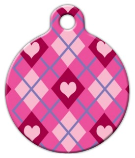 Puppy Love Lupine Pattern Pet ID Tag