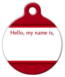 """Hello, my name is"" Pet Name Tag"