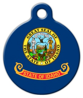 Idaho Flag Pet Name Tag