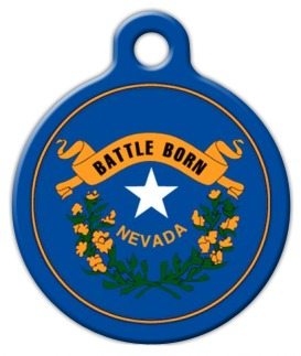 Nevada Flag Custom Dog Tag