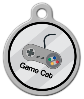 Game Cat Identity Tag