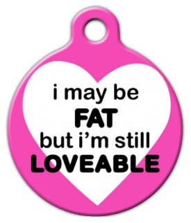 Fat and Loveable Custom Dog Tag