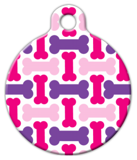 Pretty Bones Dog ID Tag