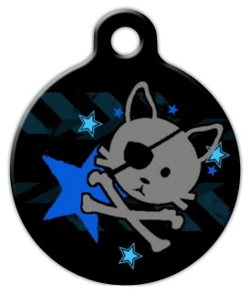 Pirate Kitty Cat ID Tag