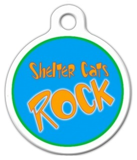 Shelter Cats Rock Cat ID Tag