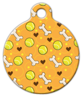 Ball and Bone Custom Dog Tag