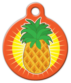 Pineapple Sun Pet ID Tag