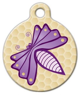Purple Bug Dog Collar Tag