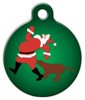 Ho Ho Oh No! Dog Collar Tag