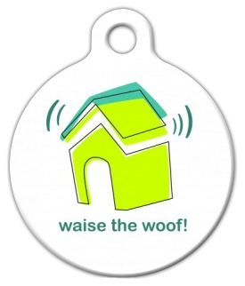 Waise the Woof! Dog Identity Tag