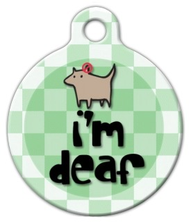 I'm Deaf Pet ID Tag