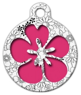 Flower Power Pet ID Tag