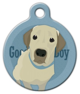 Good Boy Labrador Retriever Dog ID Tag