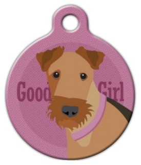 Good Girl Airedale Dog ID Tag