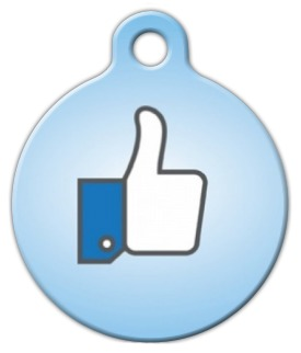 Thumbs Up Custom Dog Tag
