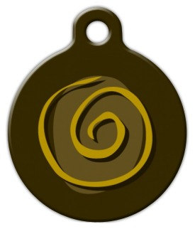 Mustard Swirl Pet Tag
