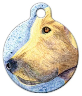 Yellow Lab Pet Tag
