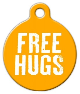 Free Hugs Pet Tag