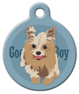 Good Boy Yorkshire Terrier Dog ID Tag