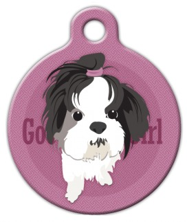 Good Girl Shih Tzu Dog ID Tag