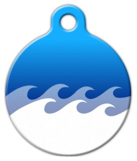 Ocean Custom Dog Tag