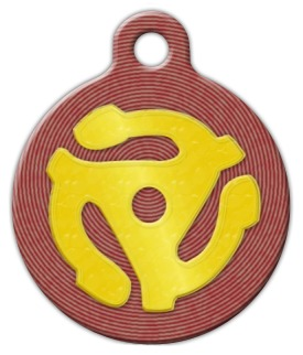 Retro 45 Pet ID Tag