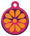 image: Flower Box Lupine Pattern Pet ID Tag