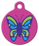 Wing It Lupine Pattern Dog Collar Tag