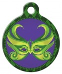 image: Big Easy Lupine Pattern Pet ID Tag