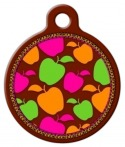 image: Candy Apple Lupine Pattern Pet Identity Tag