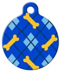 image: Dapper Dog Lupine Pattern Pet Identity Tag