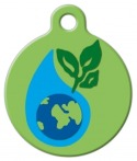 image: Earth Day Lupine Pattern Dog ID Tag
