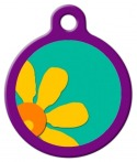 image: Crazy Daisy Lupine Pattern Pet Collar Tag