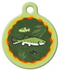 image: Brook Trout Lupine Pattern Pet ID Tag