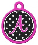 image:Polka Dot Monogram A-Z Dog Tag for Dogs