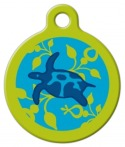 image: Turtle Reef Lupine Pattern Pet ID Tag