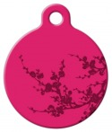Plum Blossom Lupine Pattern Pet ID Tag