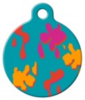 image: Wet Paint! Lupine Pattern Pet Name Tag