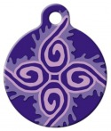 image:Jelly Roll Lupine Pattern Pet Collar Tag