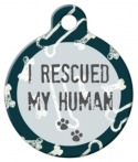 image: Rescued My Human Pet ID Tag