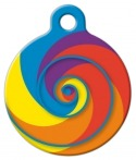 image: Lollipop Lupine Pattern Pet Collar Tag