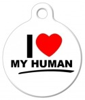 image: I love My Human Pet ID Tag