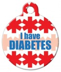 image: I Have Diabetes Pet ID Tag