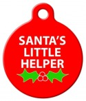 image: Santa's Little Helper Dog ID Tag