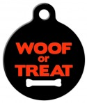 Image: Woof or Treat Halloween Pet Tag