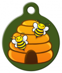 image: Happy Honey Bee Hive Pet ID Tag