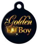 image: Golden Boy Senior Dog or Cat Name Tag