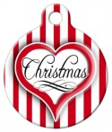 image: Christmas Heart Pet ID Tag
