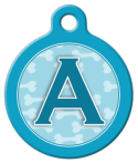 image: Blue Bones Monogram A-Z Dog Collar Tag